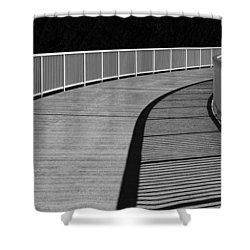 Shower Curtain featuring the photograph Walkway by Chevy Fleet
