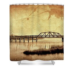 Walkway Over The Sound, Topsail Beach, North Carolina Shower Curtain