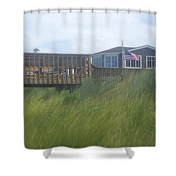 Walkway To Chicks Beach Virginia Beach On The Chesapeake Bay Shower Curtain