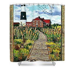 Walkway To Fire Island Lighthouse Shower Curtain