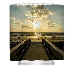 Walkway To The Beach Shower Curtain