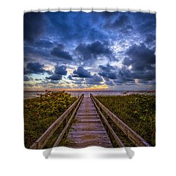 Walkway To Tomorrow. Shower Curtain