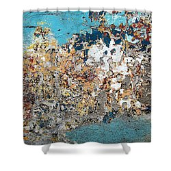 Shower Curtain featuring the photograph Wall Abstract 106 by Maria Huntley