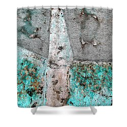 Shower Curtain featuring the photograph Wall Abstract 118 by Maria Huntley