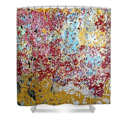 Wall Abstract 123 Shower Curtain
