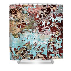 Wall Abstract 128 Shower Curtain