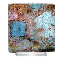 Wall Abstract 138 Shower Curtain