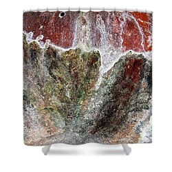 Wall Abstract 144 Shower Curtain