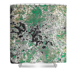Wall Abstract 160 Shower Curtain