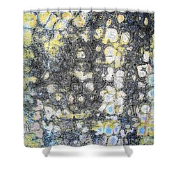 Wall Abstract 162 Shower Curtain