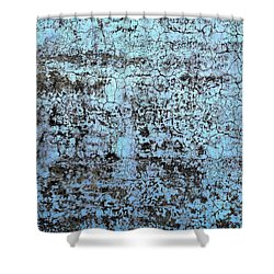 Wall Abstract 163 Shower Curtain