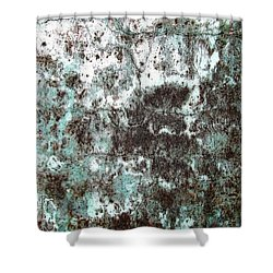 Wall Abstract 173 Shower Curtain