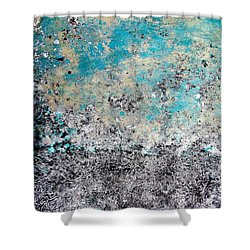 Wall Abstract 174 Shower Curtain