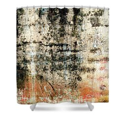 Wall Abstract 182 Shower Curtain