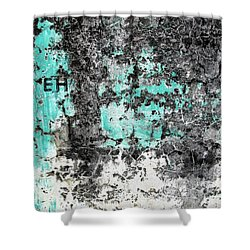 Wall Abstract 185 Shower Curtain