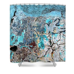 Wall Abstract 211 Shower Curtain