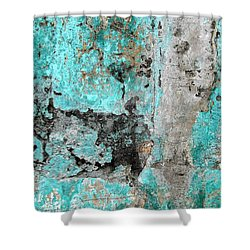Wall Abstract 219 Shower Curtain