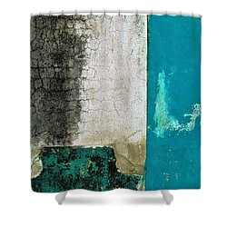 Wall Abstract 296 Shower Curtain