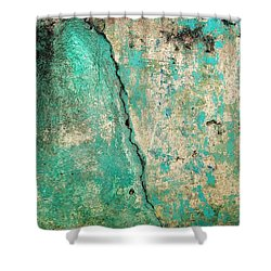 Shower Curtain featuring the photograph Wall Abstract 97 by Maria Huntley