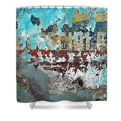 Wall Abstract 98 Shower Curtain