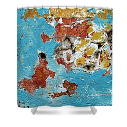 Shower Curtain featuring the photograph Wall Abstract 99 by Maria Huntley