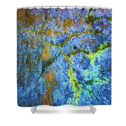 Wall Abstraction I Shower Curtain