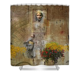 Wall Angel Shower Curtain