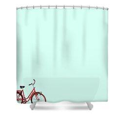 Wall Bici Shower Curtain