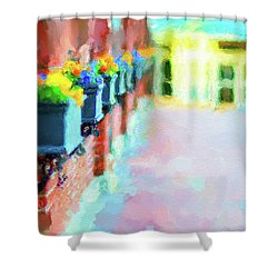 Wall Flower On The Mills In Amesbury Ma Shower Curtain