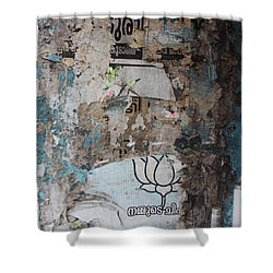 Wall In Kochi Shower Curtain by Jennifer Mazzucco