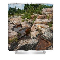 Wall Island Rock-3592 Shower Curtain