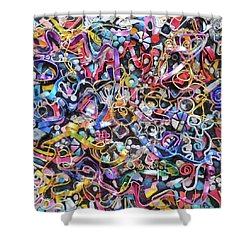 Wall Jewelry 3r Shower Curtain