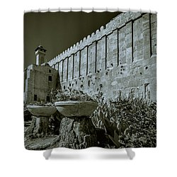 Wall Of Cave Of The Patriarchs Shower Curtain