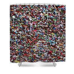 Wall Of Chewing Gum Seattle Shower Curtain by Garry Gay