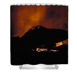 Wall Of Fire Shower Curtain by John Clark