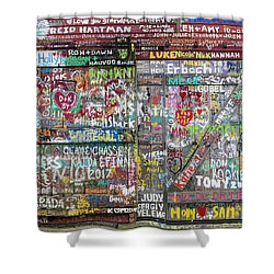 Shower Curtain featuring the photograph Wall Of Love by Joel Witmeyer