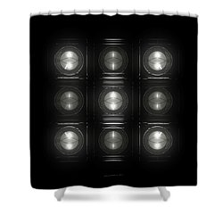 Wall Of Roundels 3x3 Shower Curtain