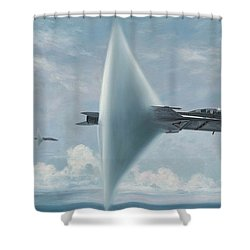 Wall Of Sound Redcocks Style Shower Curtain by Wade Meyers