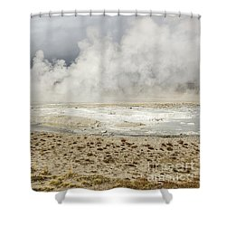 Shower Curtain featuring the photograph Wall Of Steam by Sue Smith