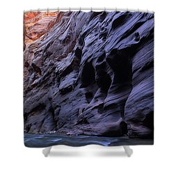 Wall Street At The Narrows At Zion National Park Shower Curtain