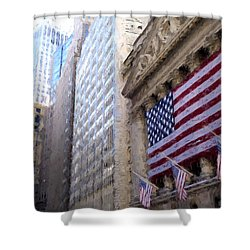 Wall Street, Nyc Shower Curtain by Matthew Ashton