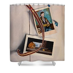 Wall Study Shower Curtain