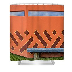 Shower Curtain featuring the photograph Wall With A View by Paul Wear