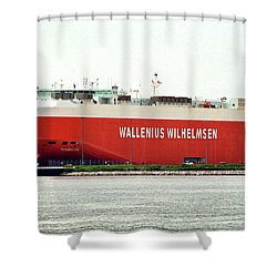 Shower Curtain featuring the photograph Wallenius Wilhelmsen Tombarra 9319753 At Curtis Bay by Bill Swartwout Fine Art Photography