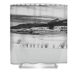 Shower Curtain featuring the photograph Wallowa Mountains by Cat Connor