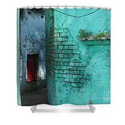 Shower Curtain featuring the photograph Walls by Jean luc Comperat