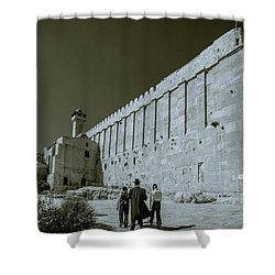 Walls Of Cave Of The Patriarchs Shower Curtain