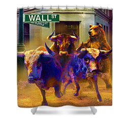 Wall Street Il Shower Curtain