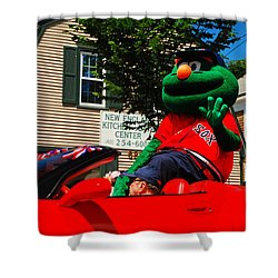 Wally On Parade Shower Curtain by James Kirkikis