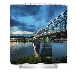 Walnut At Night Shower Curtain
